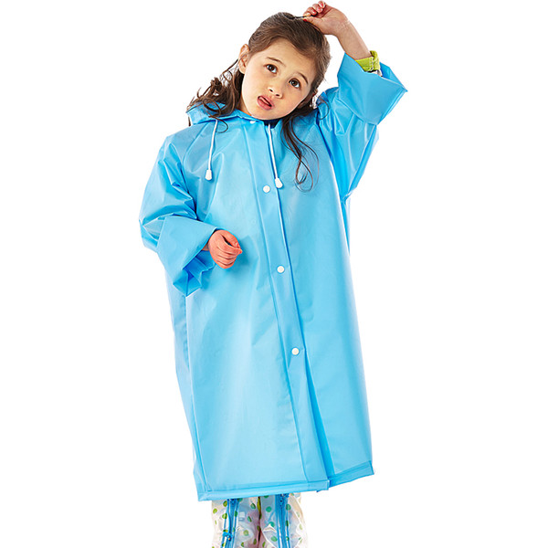 Girls Boys Baby Kids Raincoat EVA Impermeable Toddlers Rainwear Hooded Rain Poncho Waterproof Raincoat For Children