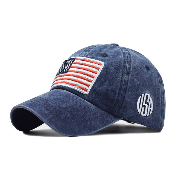 top popular Wholesale 2019 USA Flag Camouflage Baseball Cap Men Women Snapback Hat Army American Flag Bone Trucker High Quality Gorras 2020