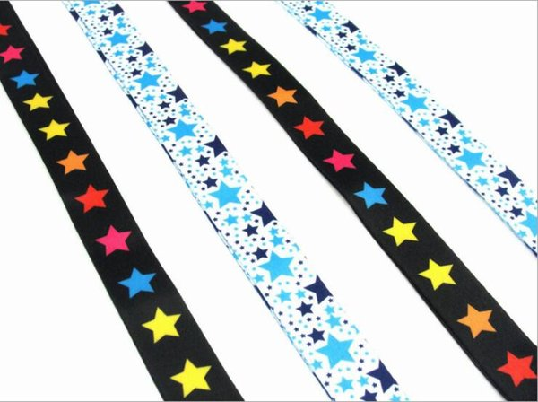 Korean style small fresh stars neckband wide necklace lanyard key chain ID card gym mobile phone with USB badge clip Long lanyard