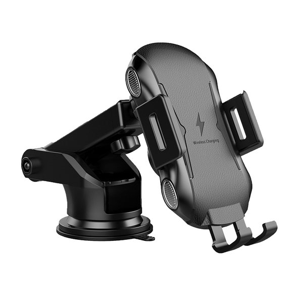 Wireless car charger X318 10W Qi Full Automatic Clamping Mount wirelss fast charger car air vent phone holder with retail package