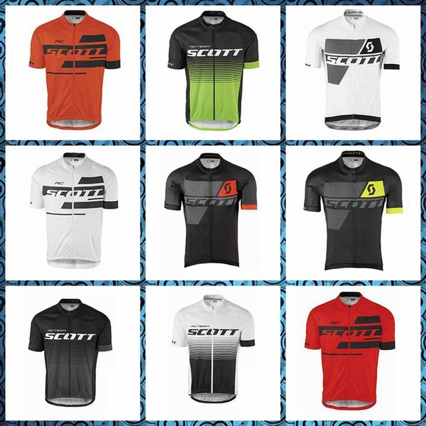SCOTT Cycling Short Sleeves jersey Breathable Quick drying Wear resistant pro Racing Outdoor Sports wear 52901