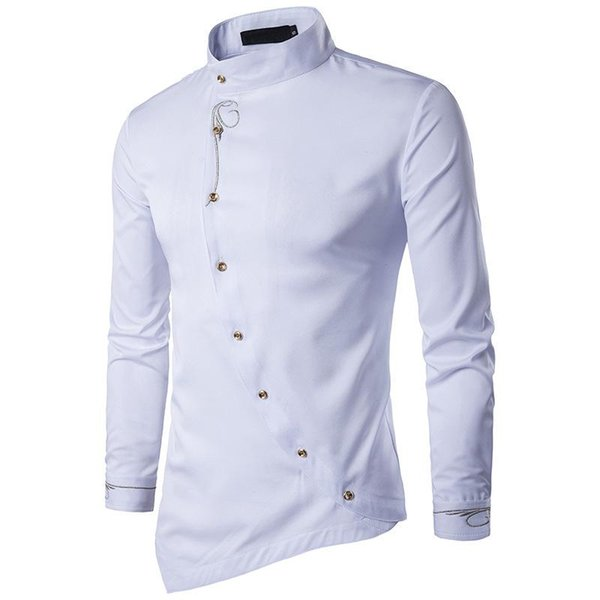 Camicia a maniche lunghe da uomo con camicie irregolari di alta qualità Camicie maniche lunghe da uomo progettate da uomo Camicia da uomo