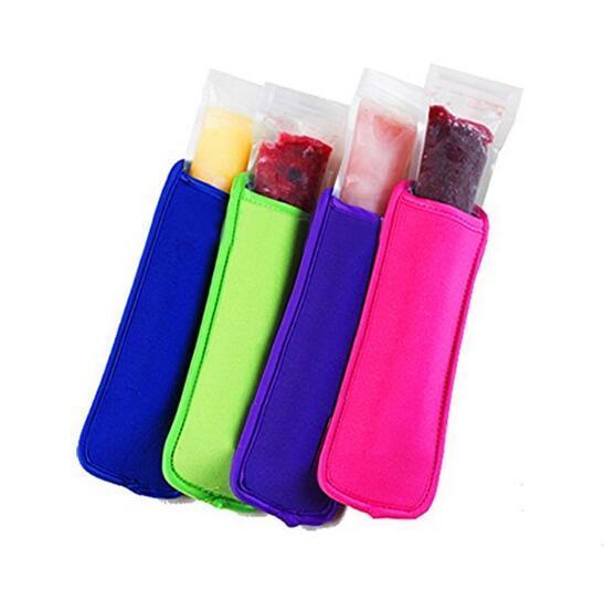 18x6cm Ice Sleeves Gefrierschrank Eis am Stiel Sleeves Pop Stielhalter Ice Cream Tubs-Party-Getränk-Halter DHL-freies Verschiffen