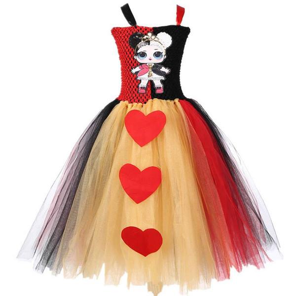Mädchen Überraschung Tutu Kleid Cartoon Love Kinder Pailletten Kleid Pettiskirt Mädchen Kleider Geburtstagsparty Prinzessin Kleider Mädchen Tutu Kleider A4238