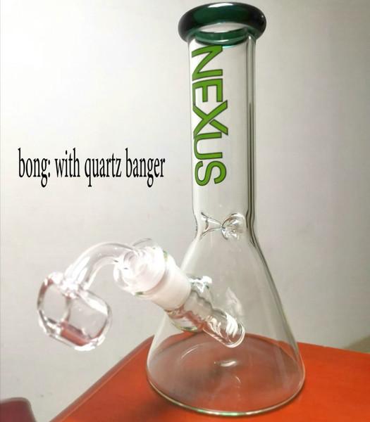 Hotstyle Edición limitada vaso de precipitados bong mini vidrio quemador de aceite vidrio de vidrio pipa de agua narguile hielo bong fumando con cuarzo o cuenco