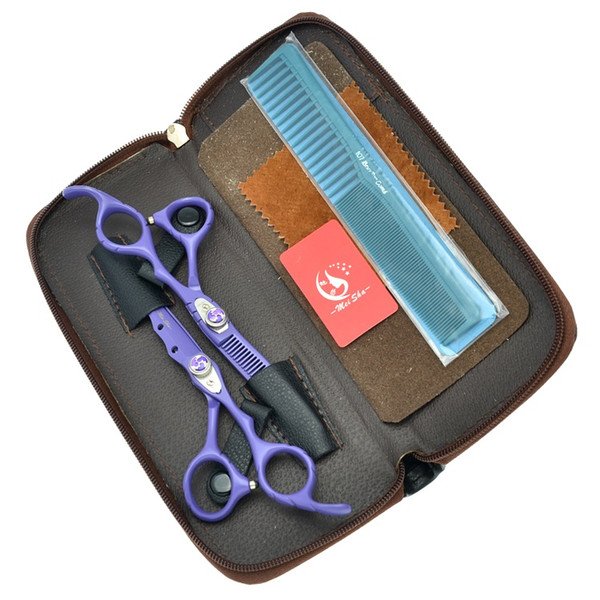 Meisha 6.0 Inch Professional Hairdressing Scissors Set Japan Salon Cutting & Thinning Tijeras for Trimming Barbers Hair Styling Tools HA0070