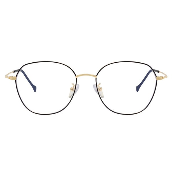 Fashion round gold silver glasses goggles designer brand black metal frame anti-blue lens men's and women's mobile phone computer TV goggles