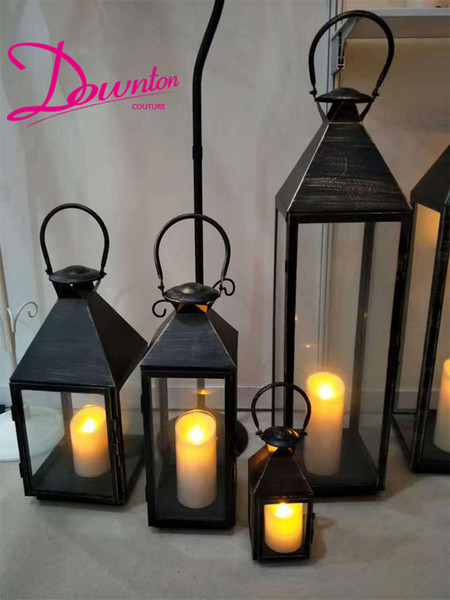 """28"""" 35"""" Tall Modern Stainless steel Portable Hurricane lamp candle holders candlestick decor candle lantern wedding candelabra centerpiece"""