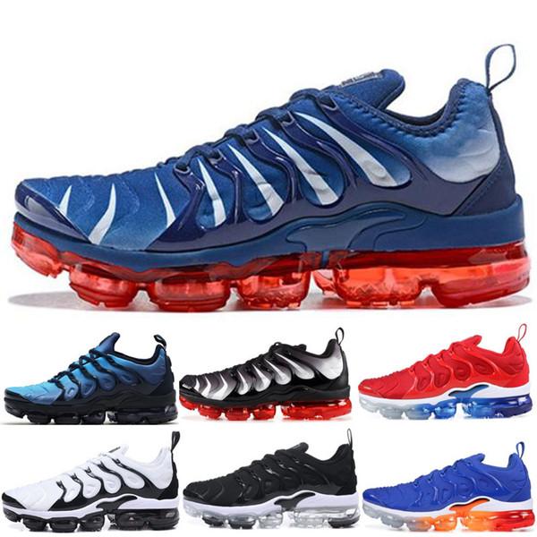Herren Klassisch Nike Air Max Plus Blau Rosa Gelb Schwarz