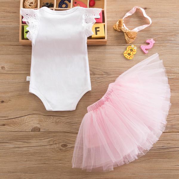 Haute qualité 2019 Marque Bébé 1 Ans D'anniversaire Robe Coton 1er Anniversaire Infantile Parti Robe Baptême Robes Robe De Baptême Toddler Vêtements