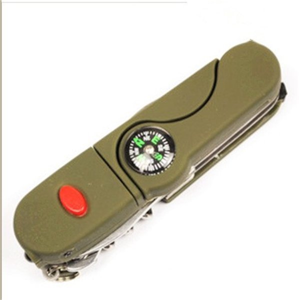 Outdoors Camp Tourism Knives Tape LED Non Slip Portable Ultra Light Multi Function Compass Anti Wear Hot Sale 10wyI1
