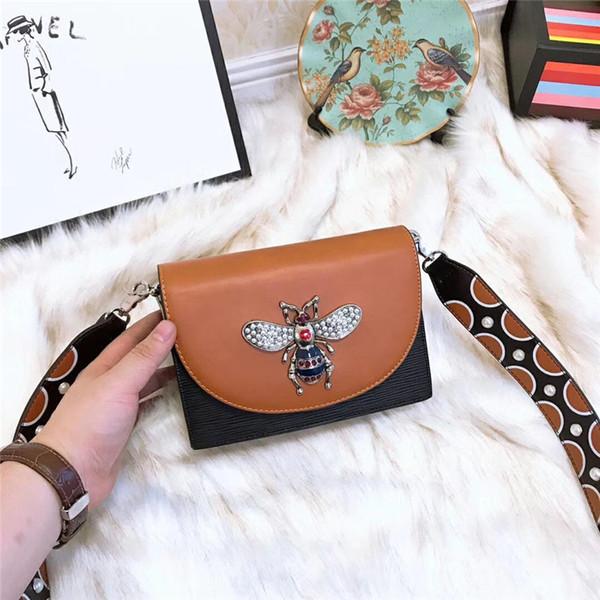 designer crossbody messenger bags luxury handbags shoulder bags wide strap good quality Napa leather 2019 pearl