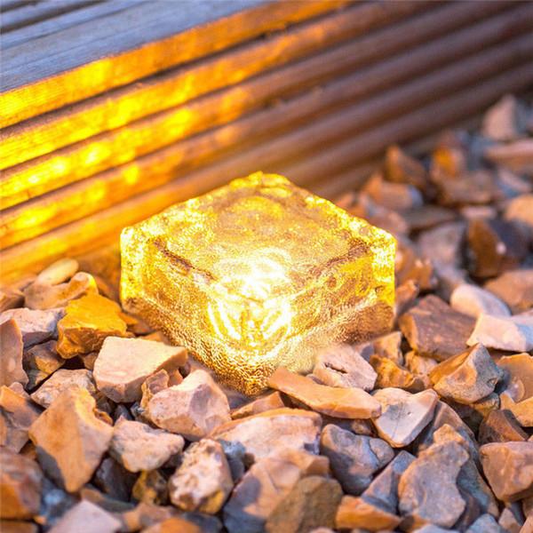 LED subterrânea enterrado lâmpada deck caminho IP68 Luz, Branco azul RGB Solar tijolo Cube Ice Path recesso levou Piso luzes ao ar livre à prova de água