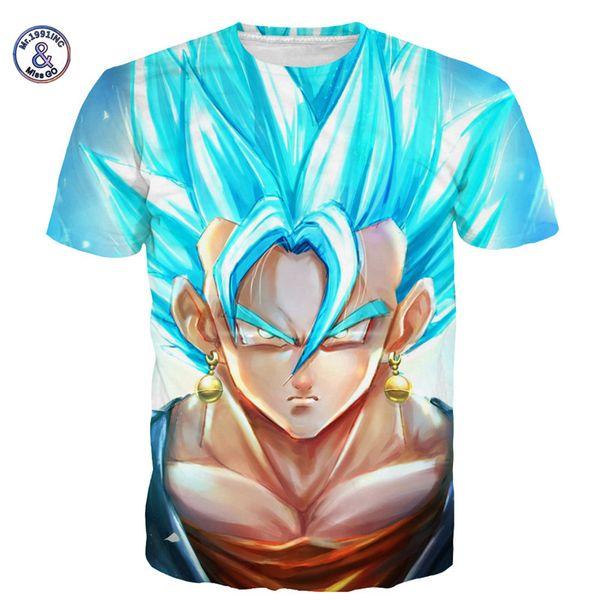 Herr .1991inc Fräulein. Gehen Sommer-Männer / Frauen-Drache-Kugel-T-Shirt Naruto 3d T-Shirt Karikatur-Anime-Drache-Kugel-Druck-Kurzschluss-Hülsen-T-Shirt