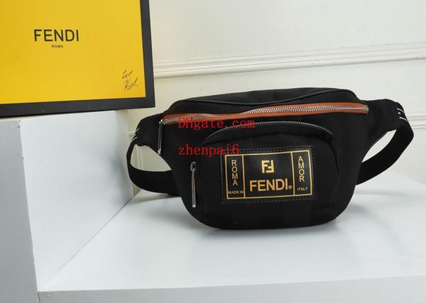 19ss marca de moda Fannypack cartas cintura bolsas para hombres mujeres cremallera al aire libre paquetes paquetes ciclismo Classic Cross body bags monedero Bur-4