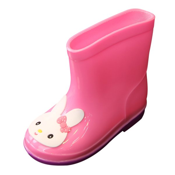 Kids Shoes New Fashion Cartoon Shoes Toddler Infant Kids Baby Girls PVC Cartoon Animals Rain Boots Galoshes #Zer