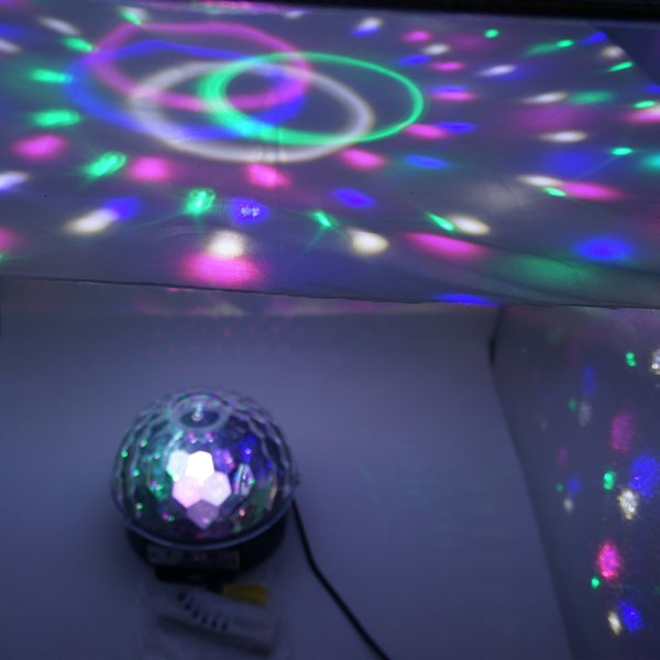 18w Bluetooth Led Disco Ball Light Remote Control Music Ball Stage Effect Soundlights Dj Magic Ball Project Laser Party Lights Dmx Stage Lighting