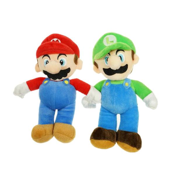 25cm Super Mario Bros Plush Toys Mario Luigi Stuffed Dolls Toys Gift for Children Plush Stuffed doll KKA6956