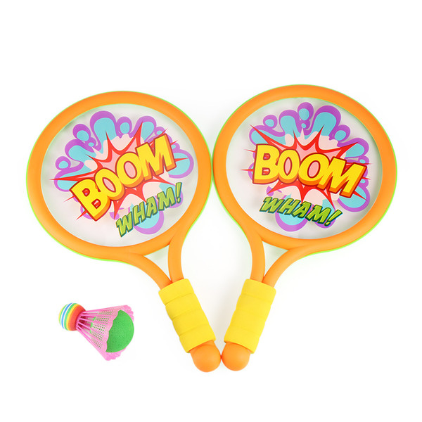 Children Colorful Tennis Badminton Racket Set With 2 Balls Outdoor Sports Game Toy For Kids and Adults Portable Fun Toys