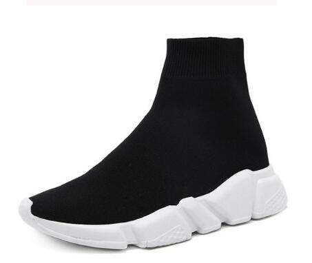 Autumn Boots Women Stretch Fabric Shoes Women Low Heels Round Toe Wedges Fashion Shoes Female Plus Size Martin Boots