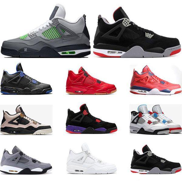 zapatos del aire 4s Nero FIBA LO QUE EL gris fresco criado SILT RED ALAS DINERO PURE Tamaño 4 deportes para hombre retro azul 36-46 Eur
