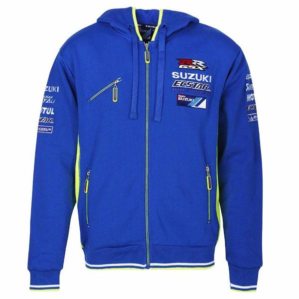 Moto GP motorcycle hoodie racing Motocross riding hoody clothing jackets men cross Zip jersey sweatshirts coat camiseta suzuki Windproof 084