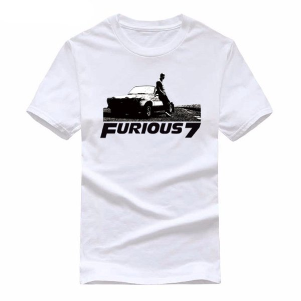 The Fast and the Furious Fast & Furious 7 Vin short sleeve T shirt leisure cotton Men casual Tees