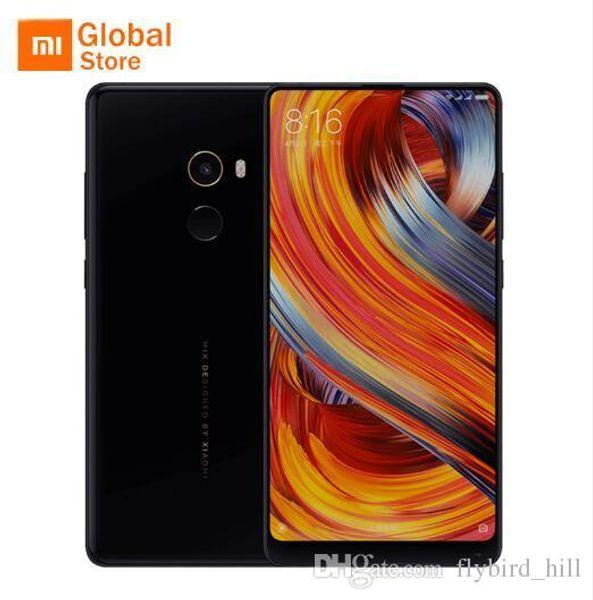 "Newest Original Xiaomi Mi MIX 2 MIX2 6GB 64GB smartphone telephone Phone Snapdragon 835 Octa Core 5.99"" Full Screen Display Ceramics"