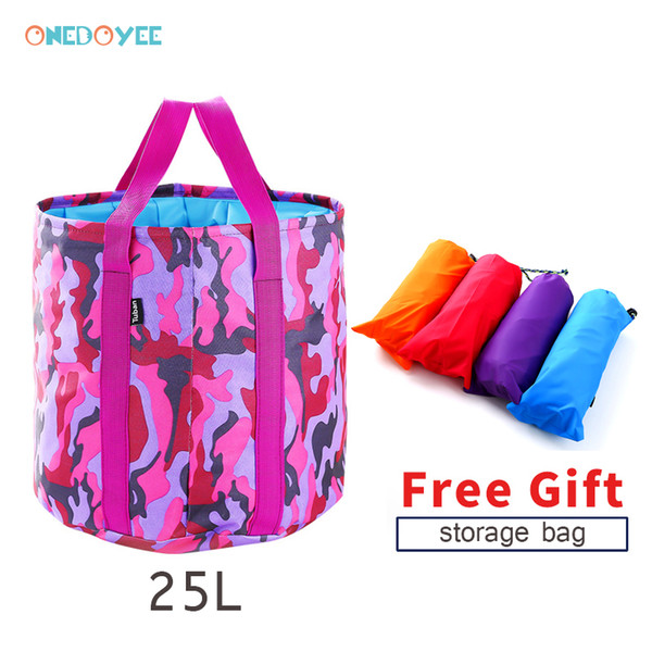 Onedoyee Portable Surfing Bag Outdoor Travel Folding Bucket Camping Washbasin Basin Bucket Bowl Washing Bag Water 25L