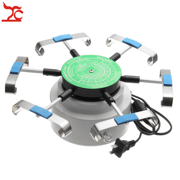 top popular Professional US Standard 110V-220V Watch Repair Tool 6 Arms Automic-Test Cyclotest Watch Tester Machine Watchmaker Tester Bracelet Tool 2021