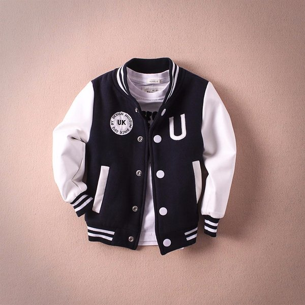 2018 Kids coat Autumn Winter Boys Jacket for Boys Children Clothing letter printed Outerwear Boy Clothes kids baseball jackets