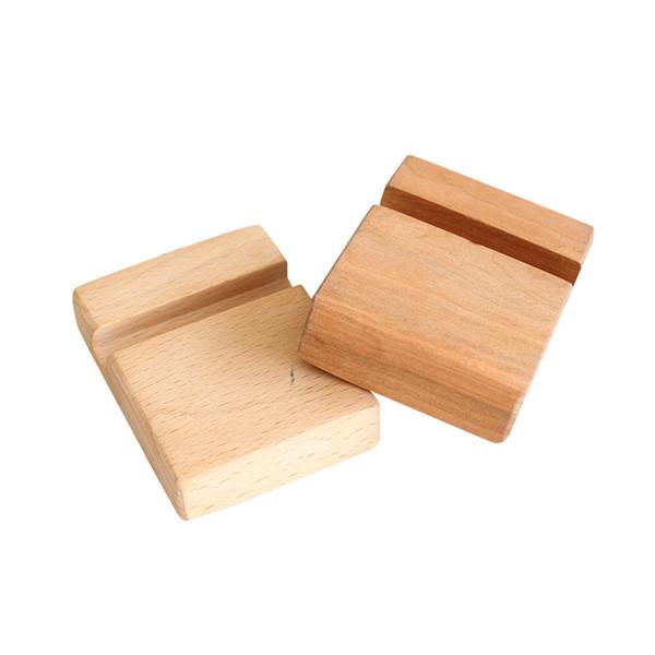 Support de bureau en bambou naturel pour bureau en bois de bambou naturel pour téléphone portable