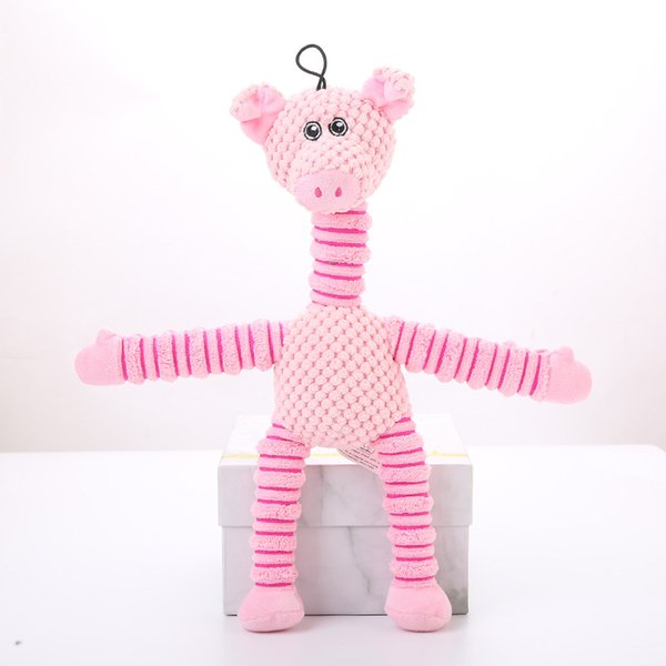Foraway Cachorro Mastigar Brinquedos 37.5 cm 82g Urso De Porco De Pelúcia Elefante Rosa Verde Marrom Venda Quente Suporte Transporte da gota