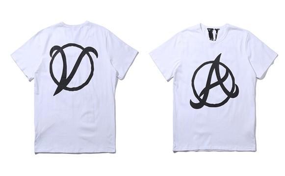 Vlone Big V Letter Printed mens designer t shirts Hiphop Streetwear Blue Friends Vlone Cotton Short Sleeve Men T shirt suprême Style 2-17