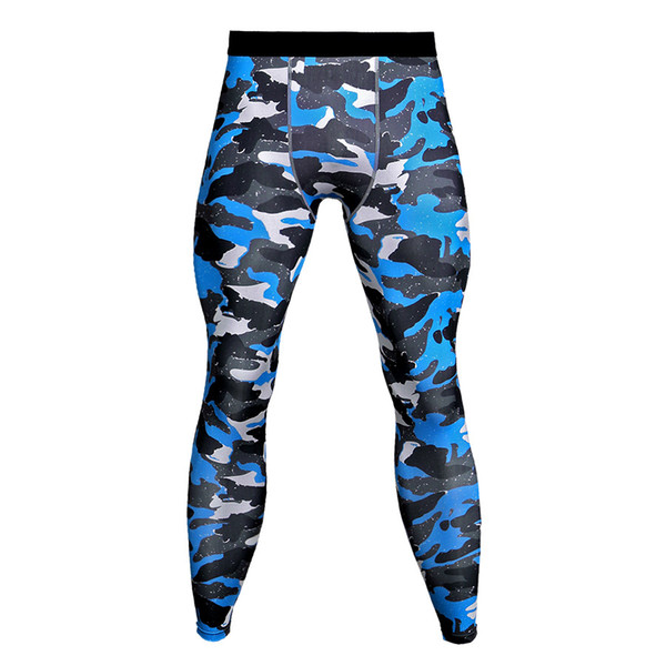 Plus Size Mens Compression Tights Base Layers Joggers Leggings 2018 Camouflage 3D Print Fitness Trousers Quick Dry Long Pants