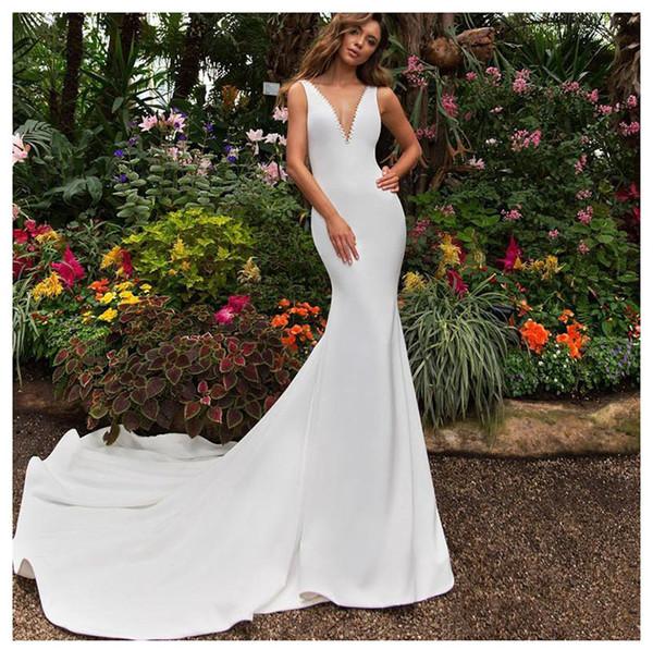 LORIE lusso elegante abito da sera in raso formale scollo a V sexy sirena vestito da promenade per ragazze sirena partito abito abito da sera 2019 nuovo stile