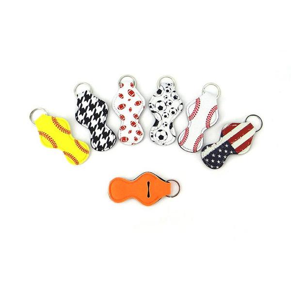 Neoprene Chapstick Holder Keychain Girl Chapstick Lipstick Keychain For Sale Gift Favors Valentines Gift Durable