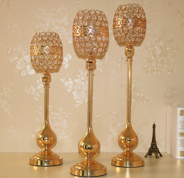 crystal candlestick candle holder flower vase crystal Crafts home decoration wedding table centerpieces wedding road lead party table props