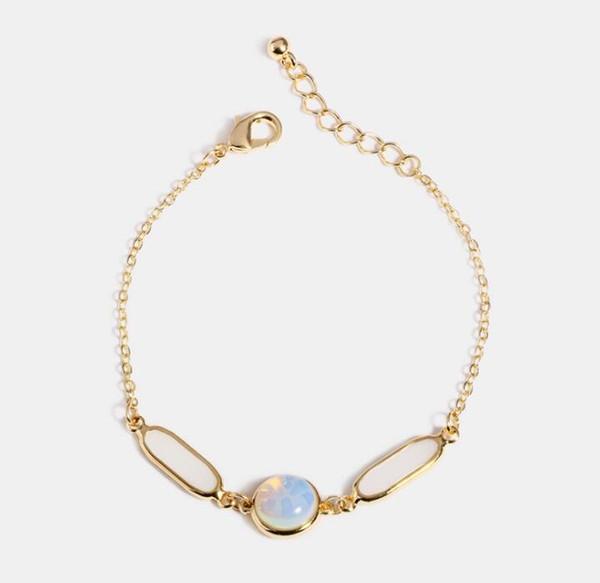 2019 New Women Temperament Bracelet Fashion Simple Handmade Geometric Gold Resin Bracelet Girlfriend Holiday Gift Charm Bracelets