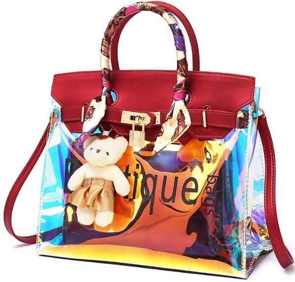 shoulder bag tote arrive cheetah laser wholesale 2019 original handbag purse female Environmental protect PVC beach outdoor bags JP USA EUR