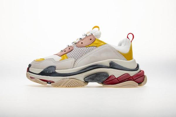 2016 Maliyet Performansı En Orijinal Tedarikçi Tasarımcı Sneakers Paris Üçlü S Siyah Gri Günlük Ayakkabılar Triple-S baba Ayakkabı Moda Erkek Kadınlar