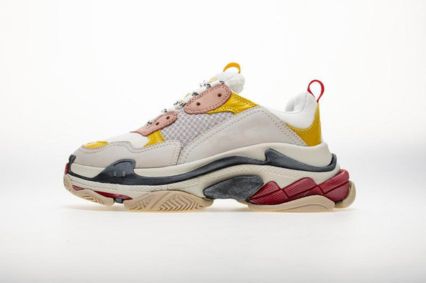 2016 Cost Performance Top Original Supplier Designer Sneakers Paris Triple S Black Grey Casual Shoes Triple-S Dad Shoes Fashion Mens Women