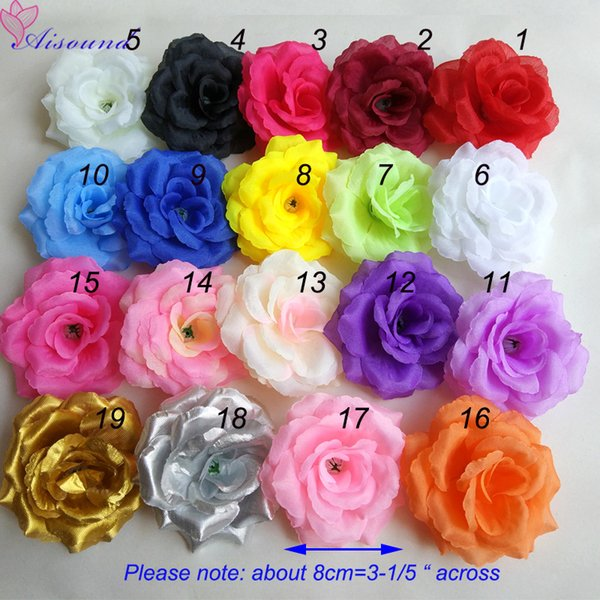 100pcs 8cm Artificial Silk Rose Head DIY Flower wall Handmade Craft Floral Supplies Kissing Ball Wedding Decoration Flowers C18112601