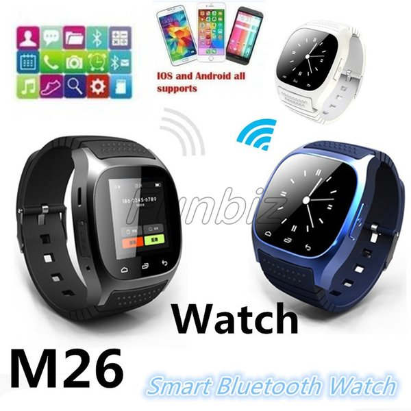 Smart Bluetooth Watch Smartwatch M26 With LED Display Barometer Altimeter Music Player Pedometer for Android IOS Mobile Phone Retail Box