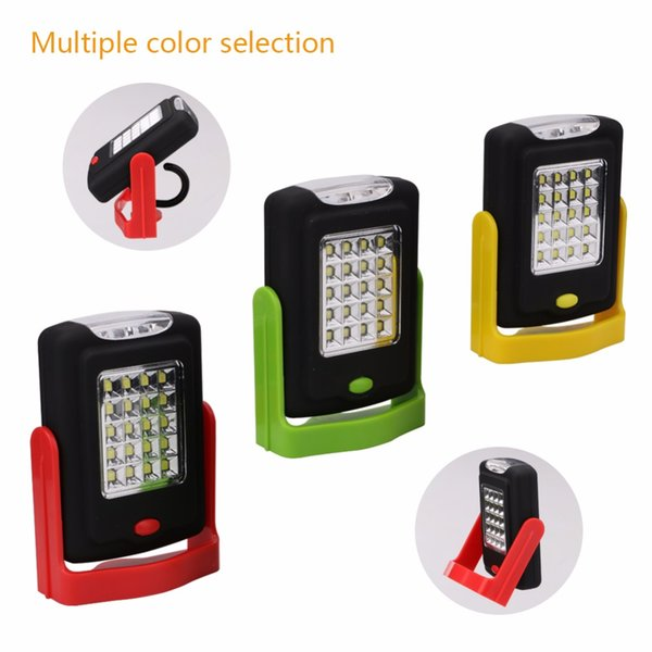 Linterna LED portátil Linterna LED Linterna antorcha Luz de trabajo 23 LED 2 modos Lámpara de bicicleta de camping con imán incorporado Gancho