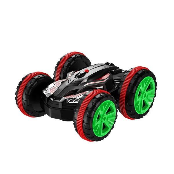 Eboyu (Tm) Stunt Car 2,4 GHz 4WD RC Auto Boot 6-Kanal-Fernbedienung Amphibious Off Road Electric Race Doppelseitiges Auto Panzerfahrzeug