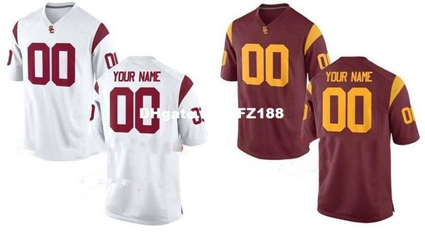 san francisco 9d096 0ed91 2019 Cheap Custom USC TROJANS College Jersey Mens Women Youth Kids  Personalized Any Number Of Any Name Stitched Red White Football Jerseys  From ...