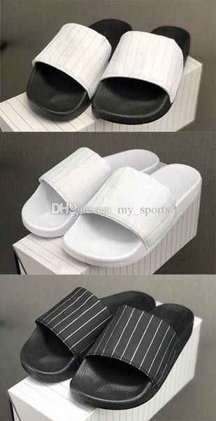 Baseball League 2019 Sport Casual Hommes Femmes Slipper Sandales flip plat glisser Flops Chaussures plates Chaussures Designer semelle en mousse légère