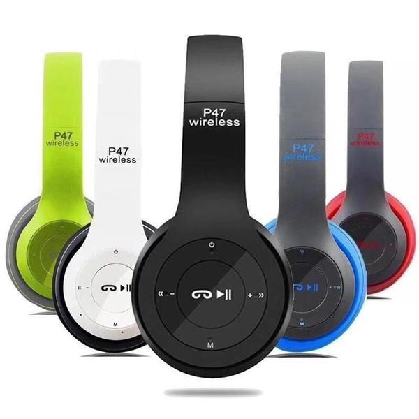 Цичэнь P47 Беспроводная связь Bluetooth наушники гарнитура стерео музыку Поддержка TF к