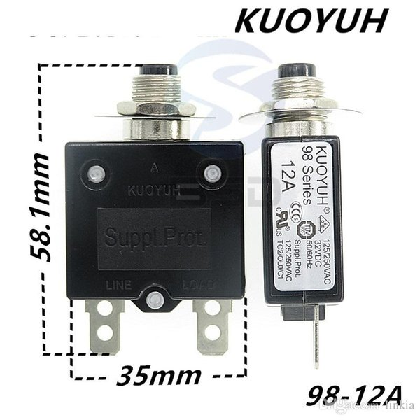 best selling Taiwan KUOYUH 98 Series-12A Overcurrent Protector Overload Switch